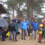 Ziel - der Rastplatz auf dem Saarmunder Berg (wurde von allen Teilnehmern gefunden)